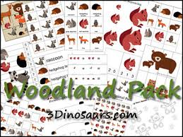 The Woodlands Emergent Readers Tot And PreK K Pack FREE Coloring Pages Forest Animal Graphing Printable