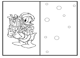 Christmas Cards For Kids To Color Coloring Home Disney Pages