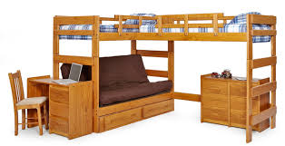 Bunk Bed Desk Combo Plans by Futon Loveable Sweet Bunk Bed With Futon For Lovely Teenage Kids
