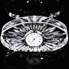waterford crystal desk clock battery movado philogic co