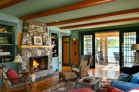 Breezy Summer Charm Coupled With Rustic Style In The Living Area