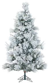 Ge Franklin Fraser Fir Christmas Tree by Flocked Snowy Pine Christmas Tree Traditional Christmas Trees