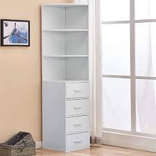 de wohnzimmer bücherregal weiß hochschrank mit 4
