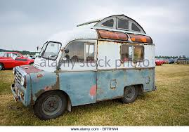 Vintage Rusty Bedford Camper Van