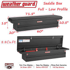 100 Black Truck Box 1215201 Weather Guard Matte Saddle 71 Low Profile