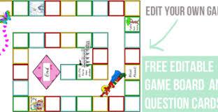 Editable Game Board File Folder