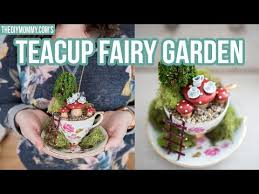 Watch My Video Below To Learn How Make A Tiny Fairy Garden In Thrifted Tea Cup