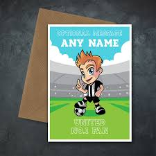 Details About Personalised Football Fan Card Birthday Christmas Dad Son Uncle Newcastle United