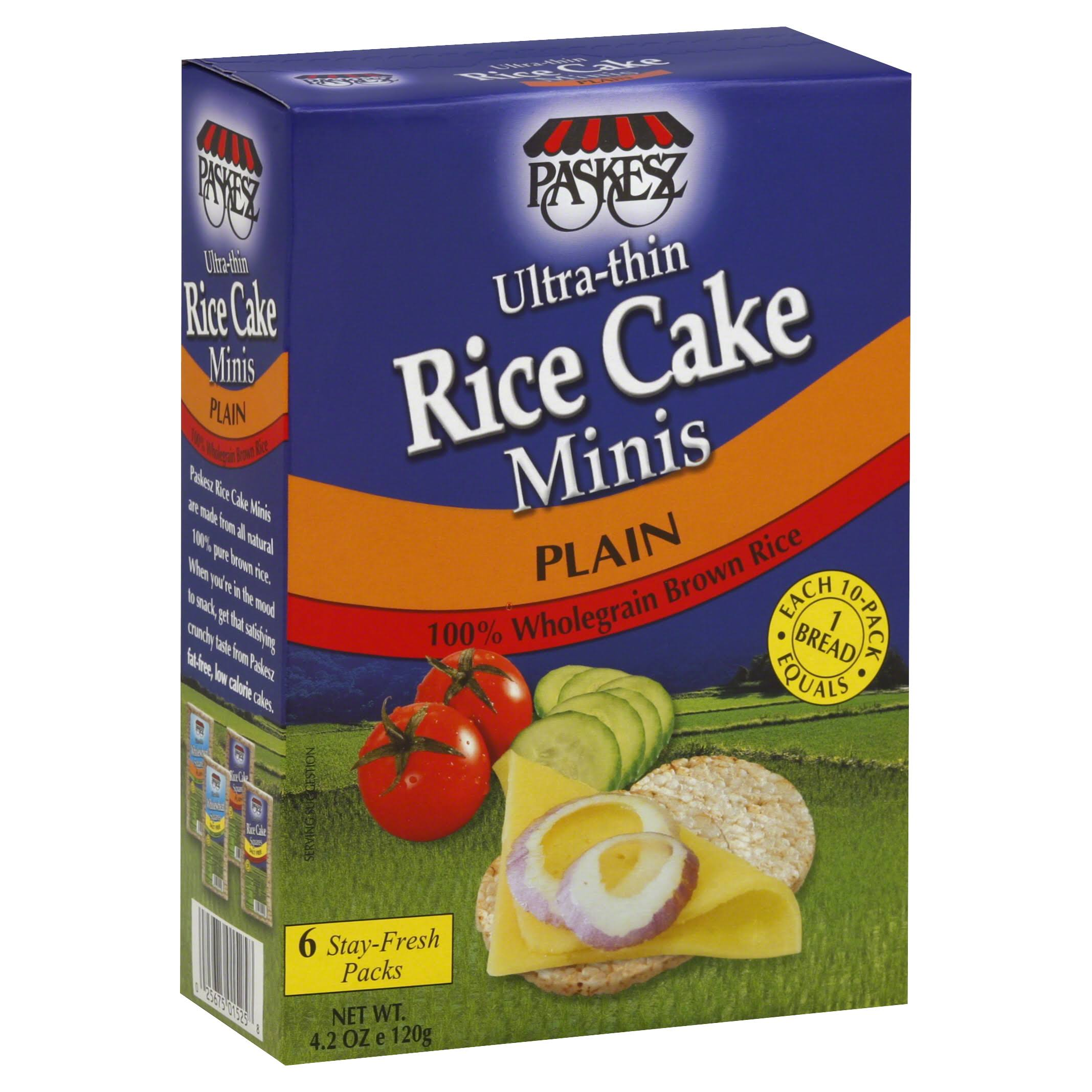 Paskesz Thin Mini Rice Cake - Plain, 4.2oz