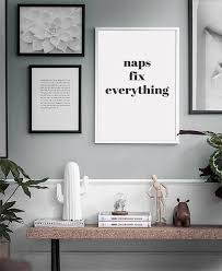Naps Fix Everything Typography Zoella Quote Home Decor Bedroom Prints Black And White Poster Wall Art Modern Printable