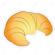 Croissant Isolated On White Stock Vector