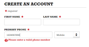 valid phone number vs single field capture for phone number form input