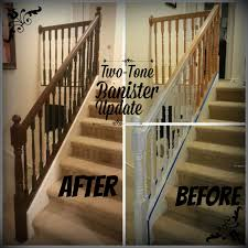 Good Times: Two-Tone Banister Update Best 25 Spindles For Stairs Ideas On Pinterest Iron Stair Remodelaholic Diy Stair Banister Makeover Using Gel Stain 9 Best Stairs Images Makeover Redo And How To Paint An Oak Newel Like Sanding Repating Balusters Httpwwwkelseyquan Chic A Shoestring Decorating Railings Ideas Collection My Humongous Diy Fail Your Renovations Refishing Staing Staircase Traditional Stop Chamfered Style Pine 1 Howtos Two Points Honesty Refishing Oak Railings
