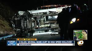 100 Game Truck San Diego Fleeing Border Patrol Crashes In Boulevard 3 Killed