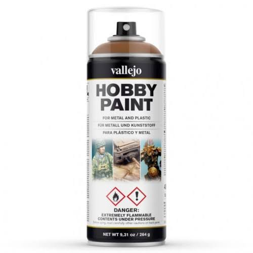 Vallejo Hobby Paint Spray - Leather Brown, 400ml