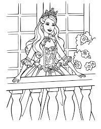 Romantic Princess Barbie Coloring Page