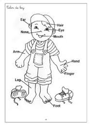 Body Parts Coloring Pages Printables