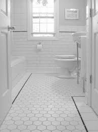 black and white mosaic tile bathroom floor thedancingparent
