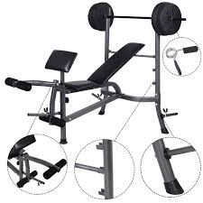 Buy Strength Training Weight Curl Bench Press Gym Workout Home