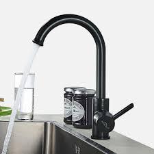 auralum 360 drehbar schwarz wasserhahn küche armatur einhebelmischer spültischarmatur hoher auslauf für jede küche und spüle geeignet