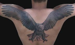 All Images To Live Ride Eagle Tattoo On Back