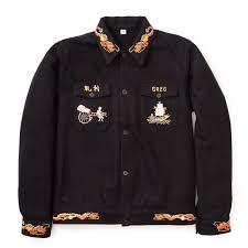 the real mccoy u0027s us navy souvenir jacket black