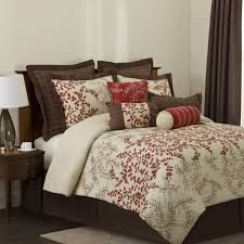 Lush Decor Belle 4 Piece Comforter Set by Lush Decor Hester 8 Piece Comforter Set Full Red Wheat Brown
