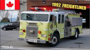 100 Freightliner Fire Trucks RARE Surrey Spare Rescue 2 Responding With Siren
