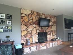 What To Do With This Ugly Orange Rock Fireplace