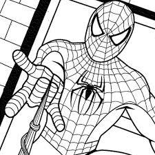 Unique Free Spiderman Coloring Pages 65
