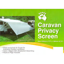 CARAVAN PRIVACY SCREEN 5200 X 1800 SUN SHADE CLOTH - SUIT 18