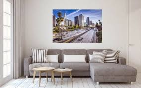 los angeles city skyline usa stadt wandbild foto poster