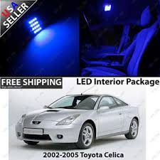 toyota celica coupe 2 door blue led interior light bulb package