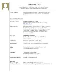 No Experience Resume Examples Work