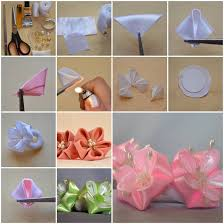 How To Make Beautiful Flowers Of Ribbon Bow Step By DIY Tutorial Instructions Do Diy Crafts