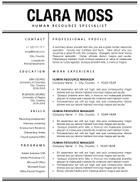 Modern Resume Template For Ms Word, Professional CV ... Human Rources Resume Sample Writing Guide 20 Examples Ultimate To Your Cv Powerful Example Associate Director Samples Velvet Jobs Specialist Resume Vice President Of Sales Hr Executive Mplate Cv Example Human Rources Best Manager Livecareer By Real People Assistant Amazing How Write A Perfect That Presents Your True Skill And