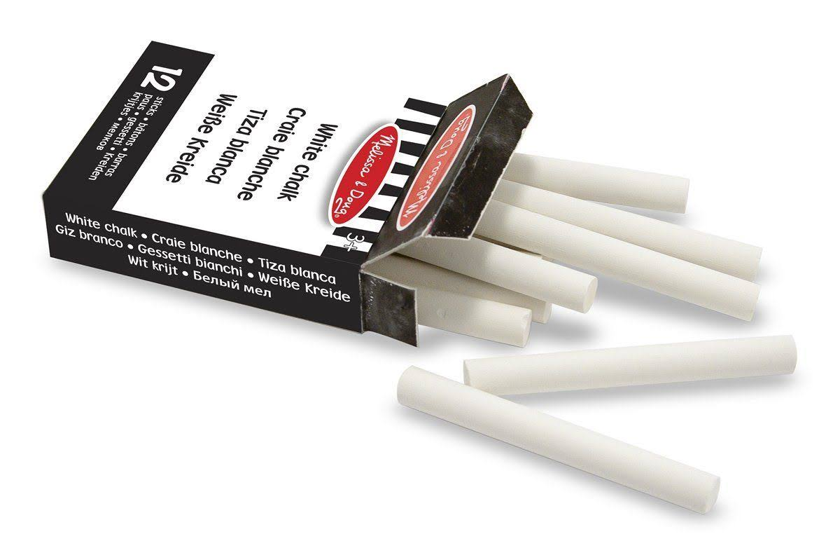 Melissa & Doug White Chalk - 12 Sticks