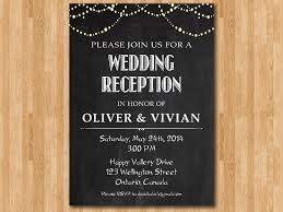 Wedding Reception Invitation Invite Chalkboard