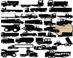 100 Truck Images Clip Art Silhouette Truck Graphics SVG Etsy