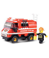 Sluban Multicolour Mini Fire Truck - Buy Sluban Multicolour Mini ...