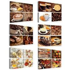 leinwand bilder küche kaffe tasse caffe kunstdruck esszimmer