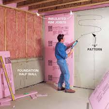 Insulate Basement Rim Joists The Family Handyman