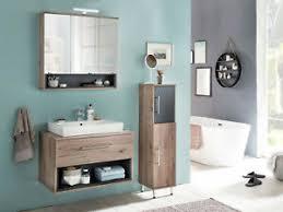 details zu badmöbel badezimmermöbel farbe eiche bordeaux nachbildung anthrazit neu