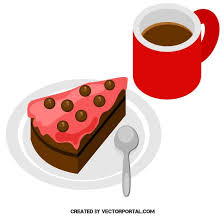 kaffee und kuchen kostenloses vektorbild im ai und eps