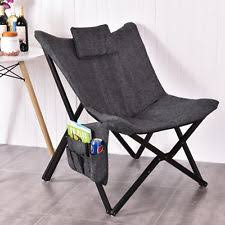 Microsuede Folding Saucer Chair by Folding Butterfly Chair Ebay