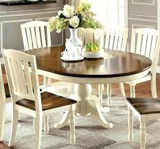 Cottage Dining Room Table Furniture Of Transitional Antique Style Two Tone Wood Oval