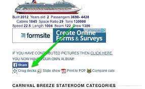 carnival deck plan maps cruise critic message board forums