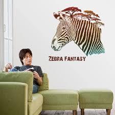 zabra design wandaufkleber esszimmer diy tapete wandaufkleber ausgangsdekor flur wand ornamente