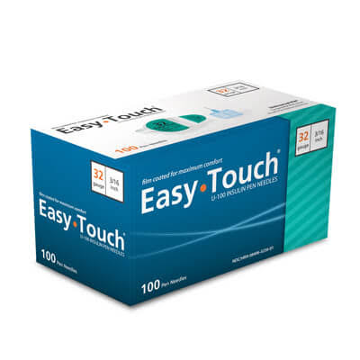 Easy Touch U-100 Insulin Pen Needles - 32g, 3/16""