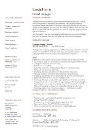 Brand Manager Resume Examples